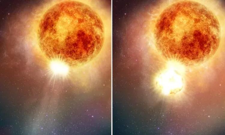 Mô phỏng sao khổng lồ đỏ Betelgeuse. Ảnh: NASA.