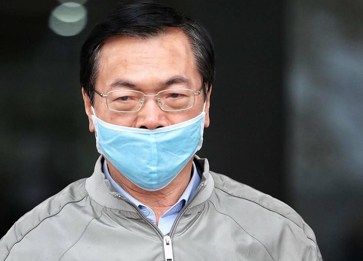 Ông Vũ Huy Hoàng tại phiên toà hồi tháng 1. Ảnh: Ngọc Thành.