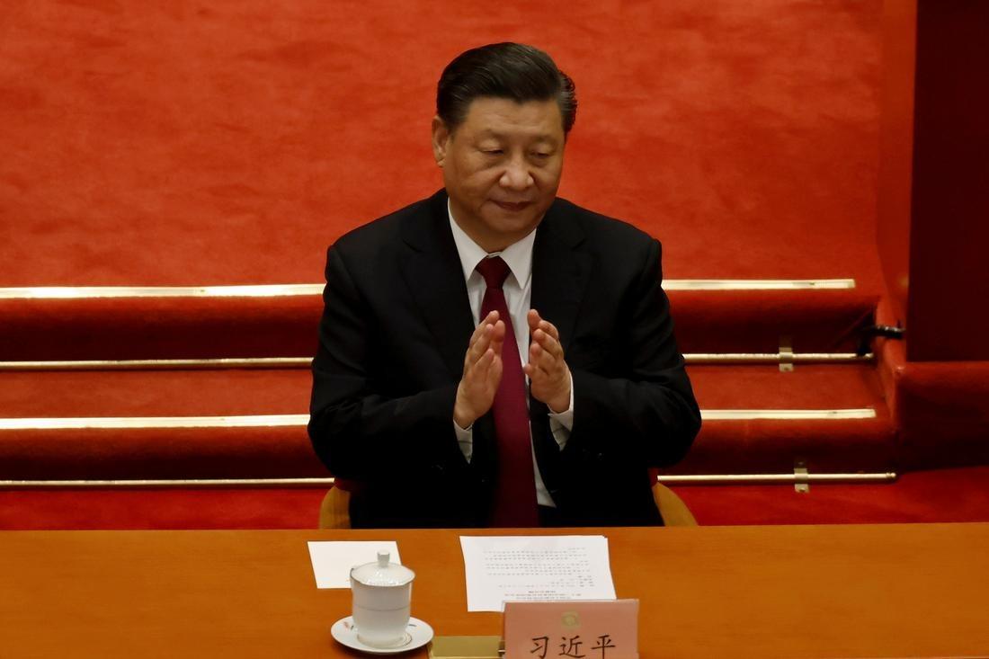 Chủ tịch Trung Quốc Tập Cần Binh tại phiên bế mạc Hội nghị Hiệp thương Chính trị Nhân dân Trung Quốc tại Đại lễ đường Nhân dân Bắc Kinh, Trung Quốc, ngày 10/3/2020. Ảnh: Reuters