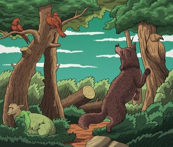 Có bao nhiêu con vật trong tranh?