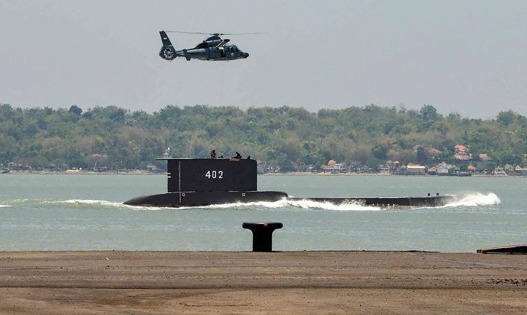 Tàu ngầm KRI Nanggala rời cảng trong một lần làm nhiệm vụ. Ảnh: Bộ Quốc phòng Indonesia.
