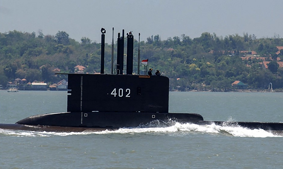 KRI Nanggala rời quân cảng Surabaya trong ảnh được công bố hôm 21/4. Ảnh: Hải quân Indonesia.