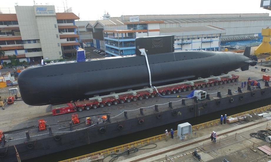 Tàu ngầm lớp Chang Bogo cho Indonesia được phát triển từ mẫu Type 209/1300. Ảnh: Bộ Quốc phòng Indonesia.