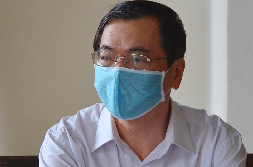 Cựu bộ trưởng Vũ Huy Hoàng tại toà sáng nay. Ảnh: Phạm Dự.