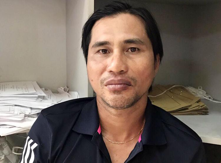 Phạm Phong Phú tại cơ quan điều tra. Ảnh:Công an cung cấp.