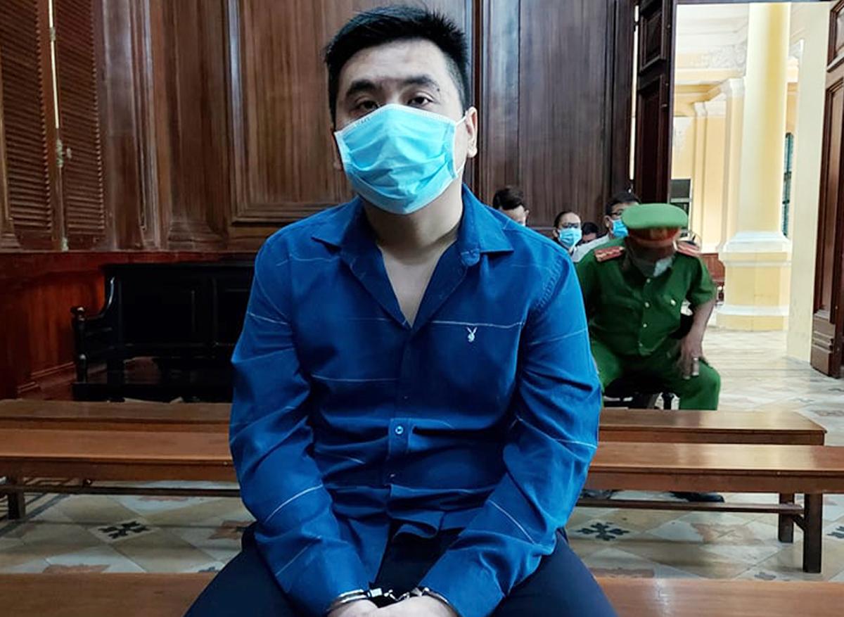 Tài xế Phong tại tòa hôm nay. Ảnh: Hải Duyên.