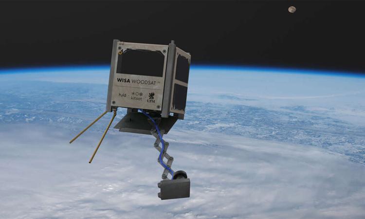 Thiết kế nhỏ gọn của vệ tinh WISA Woodsat. Ảnh: WISA Plywood.