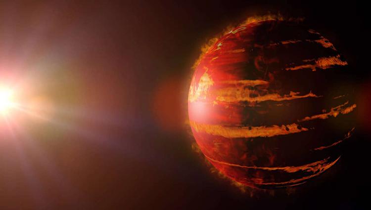Mô phỏng hành tinh khí khổng lồ. Ảnh: Dottedhippo.