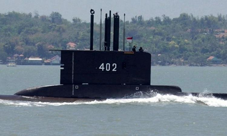 Tàu ngầm KRI Nanggala rời quân cảng Surabaya trong ảnh được công bố hôm 21/4. Ảnh: Hải quân Indonesia.