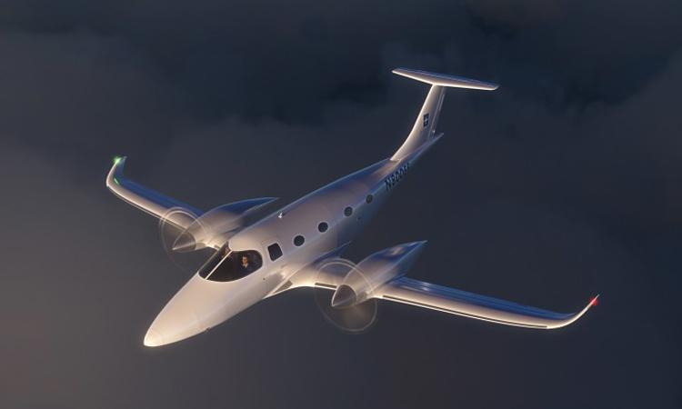 Thiết kế máy bay điện 8 chỗ ngồi eFlyer 800. Ảnh: Bye Aerospace.