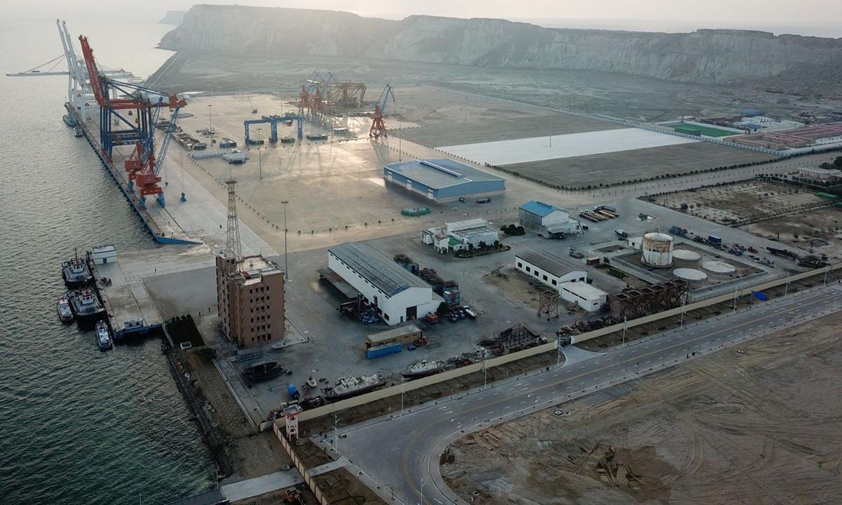 Cảng do Trung Quốc đầu tư xây dựng ở thành phố Gwadar, tỉnh Balochistan, Pakistan năm 2018. Ảnh: Xinhua.