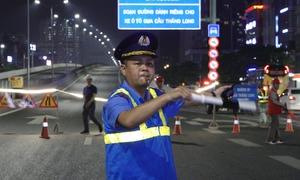 Cấm phương tiện lên đường trên cao Mai Dịch - cầu Thăng Long