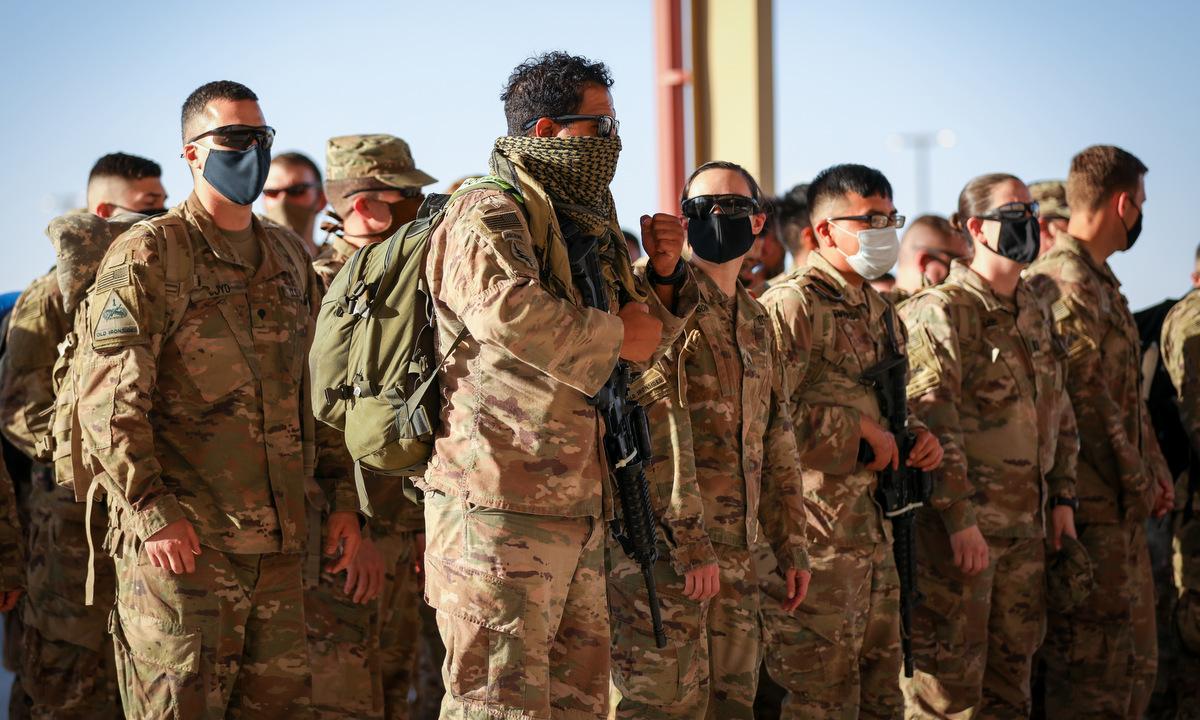 Lính Mỹ về nước sau khi làm nhiệm vụ tại Afghanistan năm 2020. Ảnh: US Army.
