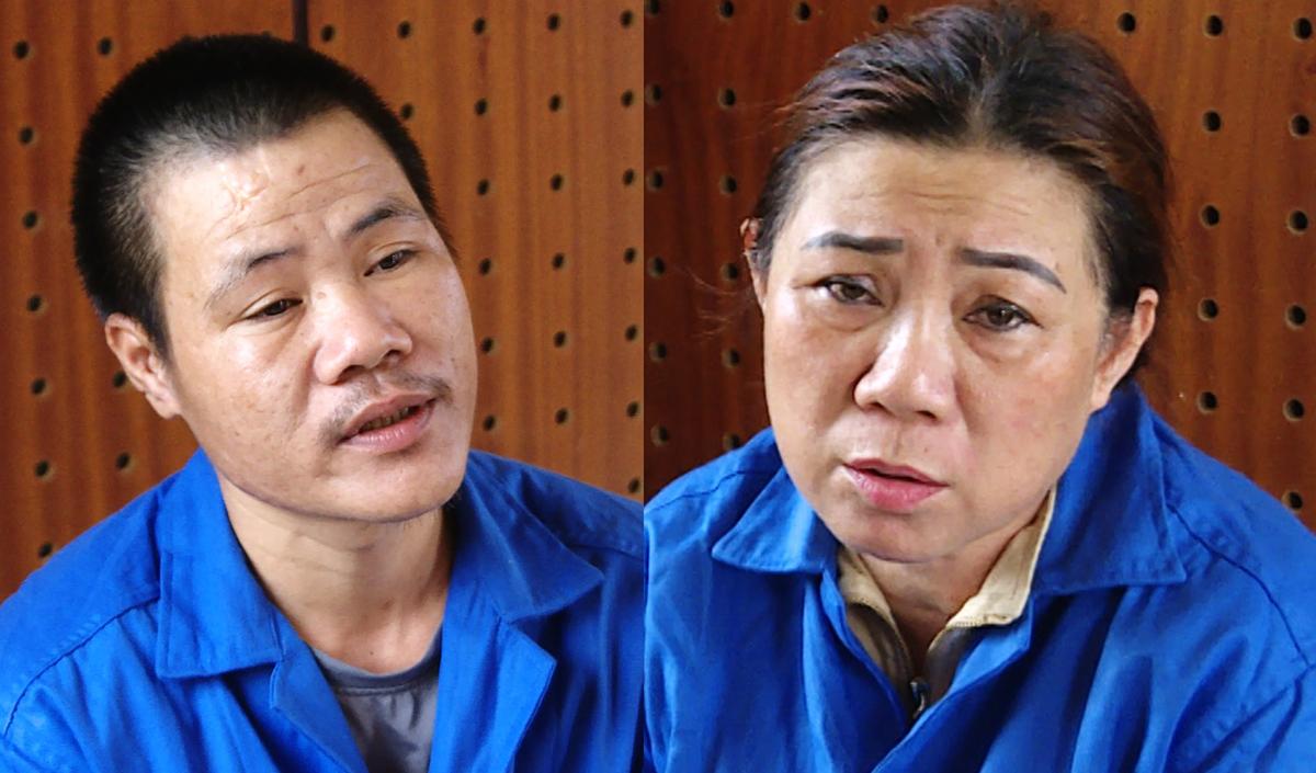 Tịnh và Thành tại Công an tỉnh Bà Rịa - Vũng Tàu. Ảnh: Quang Bình.