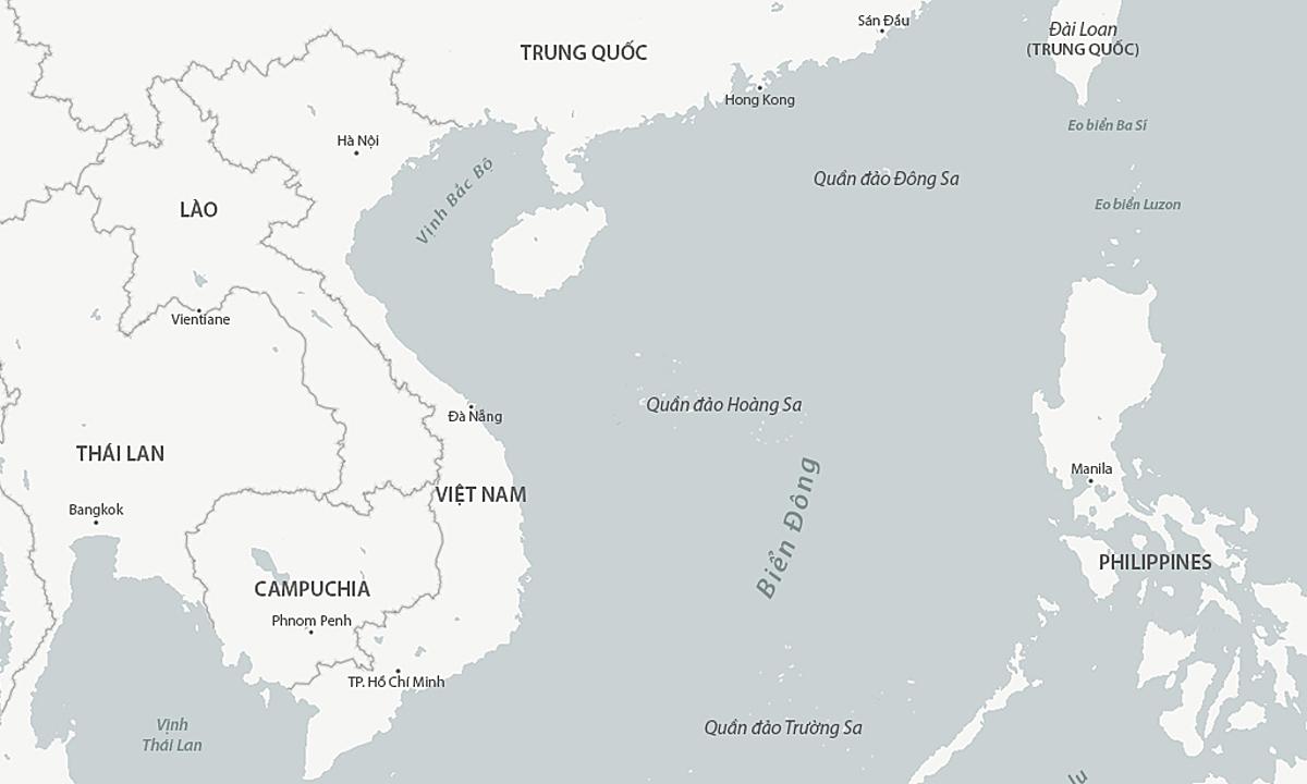Vị trí eo biển Ba Sĩ và khu vực Biển Đông. Đồ họa: CSIS.