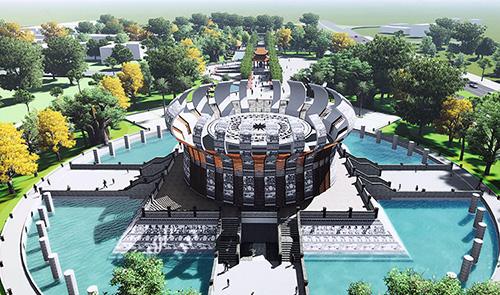 Phối cảnh đền thờ các vua Hùng. Ảnh: Cửu Long