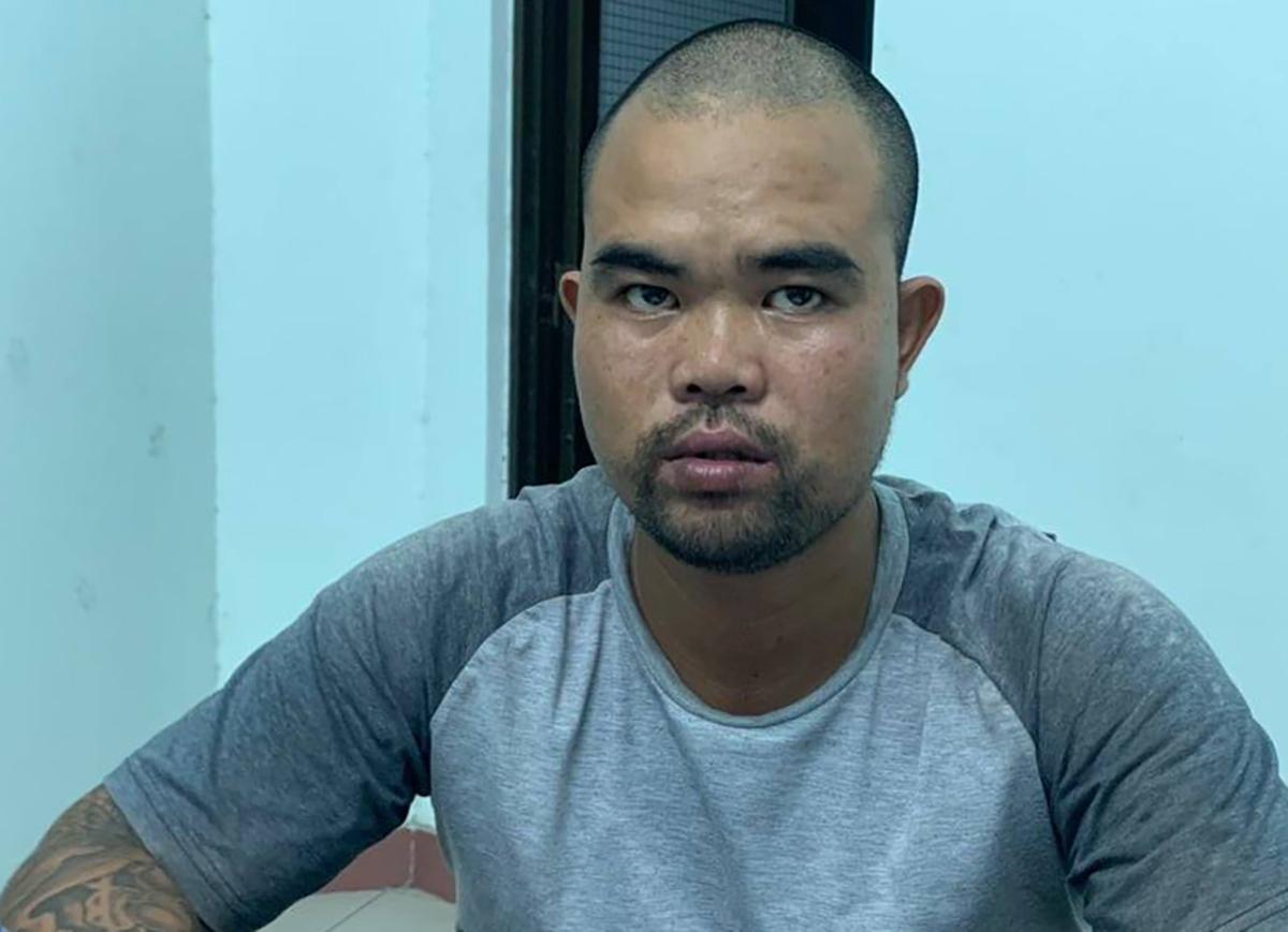 Huy bị bắt giữ sau một ngày gây án. Ảnh: Yên Khánh