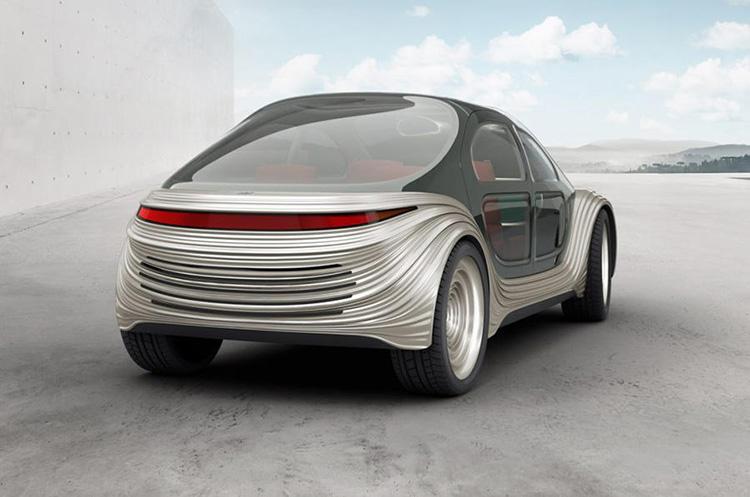 Mẫu xe điện tương lai thể lọc không khí ô nhiễm của IM Motors. Ảnh: IM Motors/Heatherwick Studio.