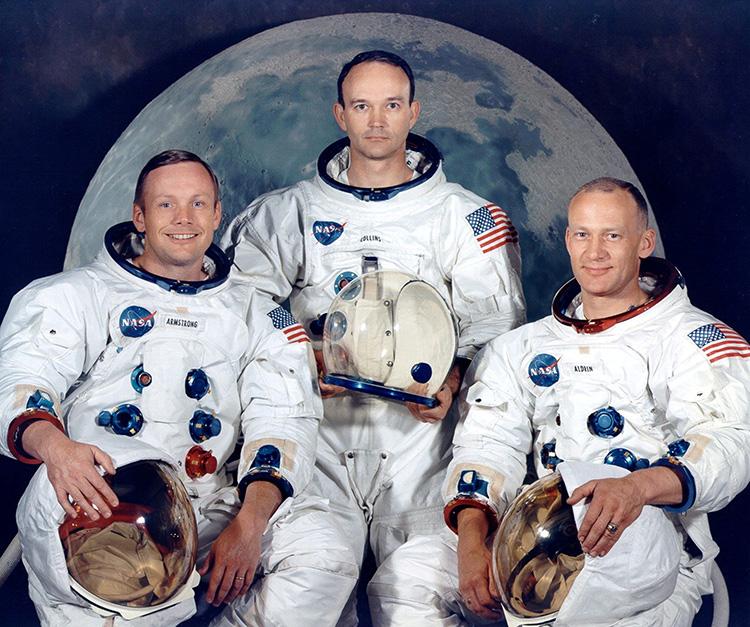 Armstrong (trái), Collins (giữa) và Aldrin (phải). Ảnh: EPA.