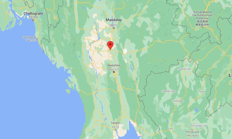 Vị trí căn cứ không quân Meiktila. Ảnh: Google Maps.