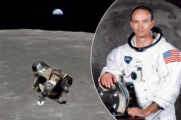 Chân dung Michael Collins, phi công điều khiển module chỉ huy trong sứ mệnh Apollo 11. Ảnh: NASA.