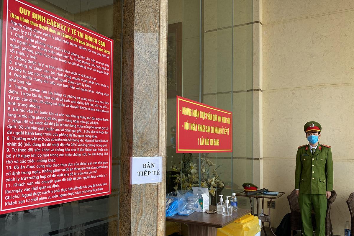 Một khách sạn cách ly người nhập cảnh ở quận Sơn Trà, Đà Nẵng. Ảnhh: Đông Vân.