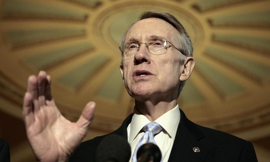 Harry Reid khi còn là nghị sĩ Nevada trong một cuộc họp ở Nevada năm 2012. Ảnh: Reuters