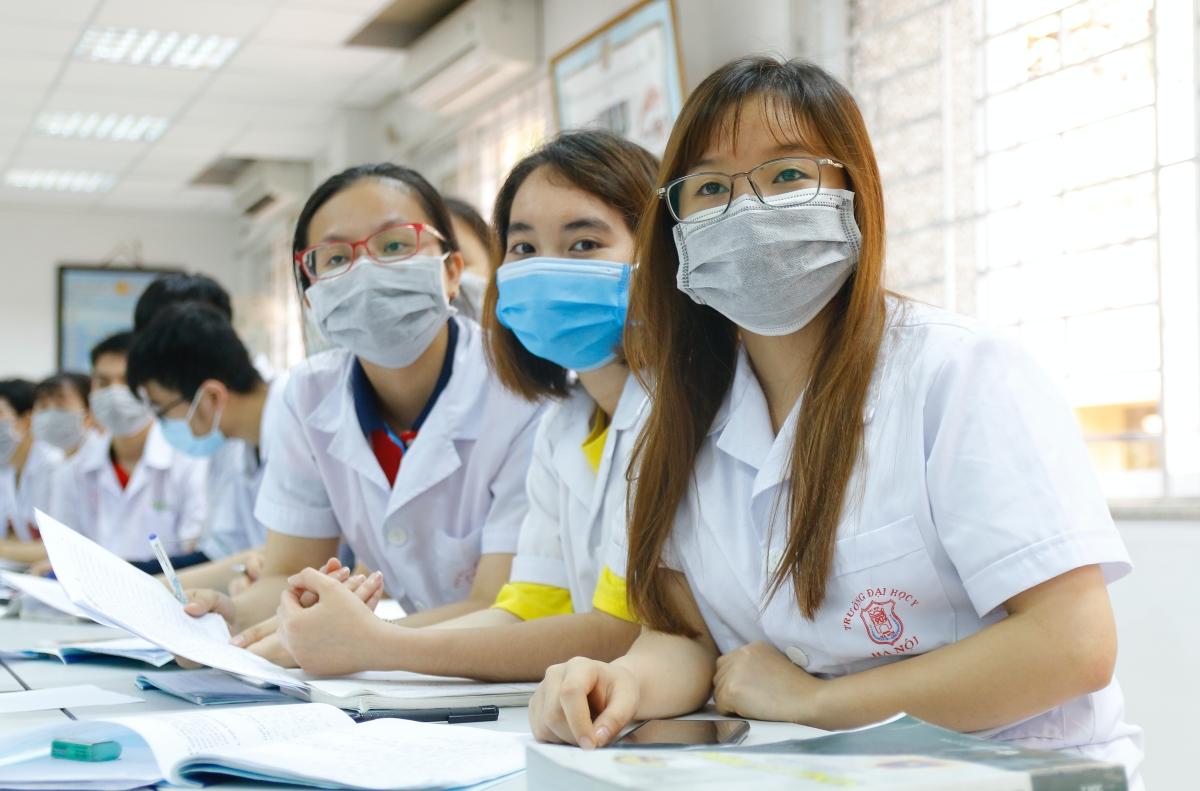 Sinh viên Đại học Y Hà Nội. Ảnh: Thanh Hằng