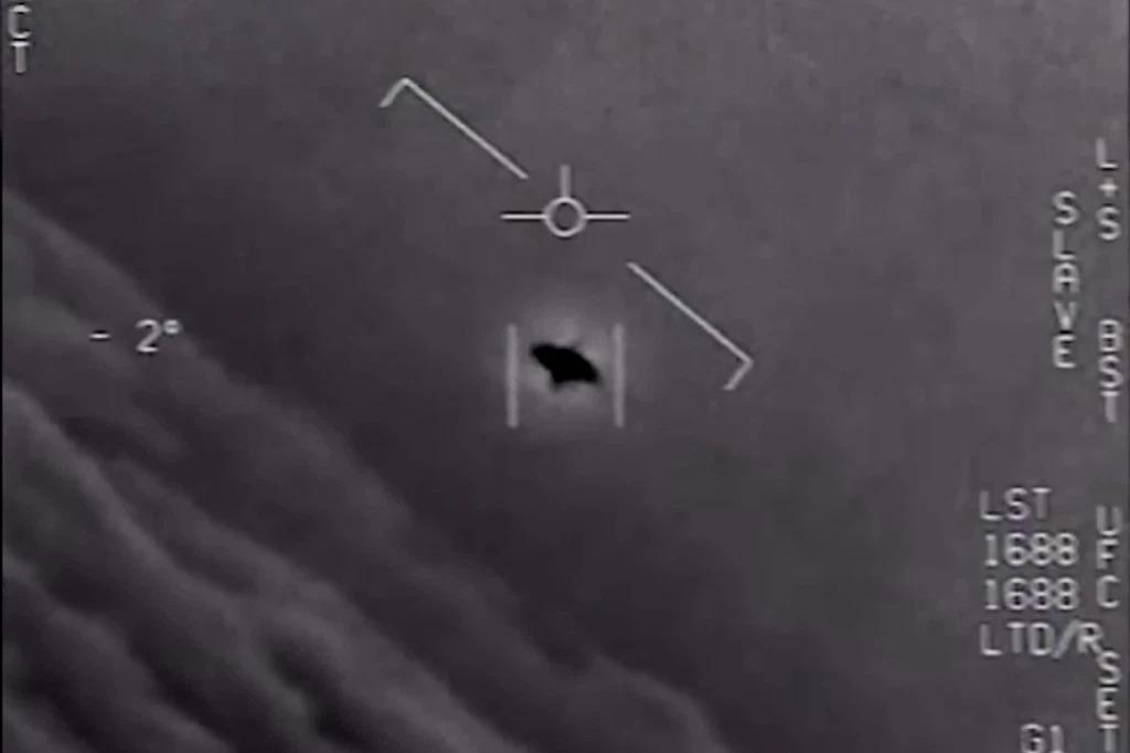 Một vật thể bay không xác định ngoài khơi bờ biển phía đông Mỹ năm 2015. Ảnh: Bộ Quốc phòng Mỹ