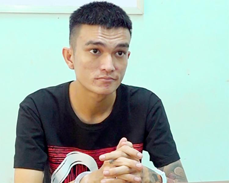 Nguyễn Tuấn Thanh tại cơ quan điều tra. Ảnh: Châu Thành