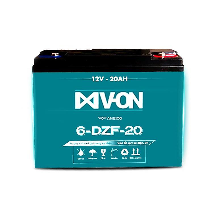 Ắc quy chì Axit gel dùng cho xe điện của V-On.