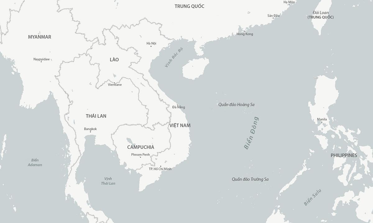 South China Sea region.  Graphics: CSIS.