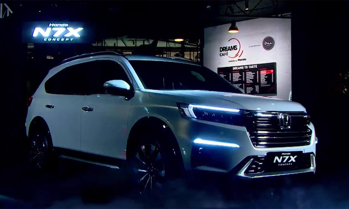 Honda N7X Concept giới thiệu tại Indonesia hôm 3/5. Ảnh: Paultan