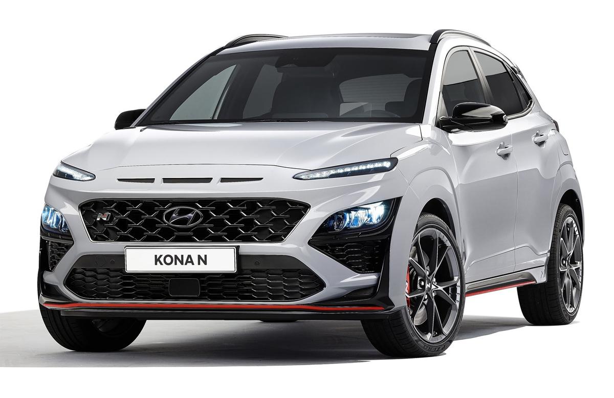 Kona N - mẫu crossover với kiểu đèn mắt hí. Ảnh: Hyundai