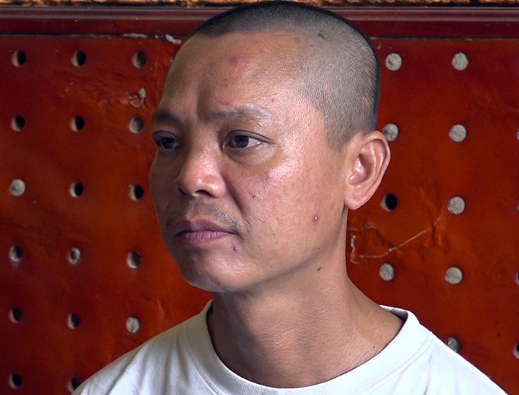 Nguyễn Văn Thanh tại cơ quan điều tra. Ảnh: An Phú