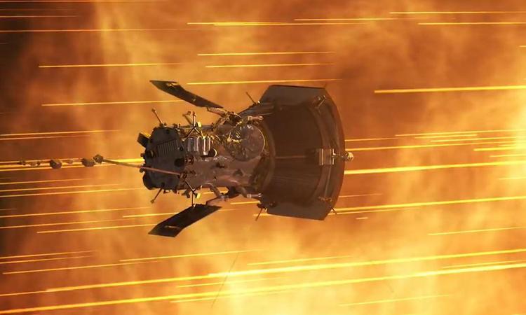 Với vận tốc 532.000 km/h, tàu Parker Solar trở thành vật thể nhân tạo nhanh nhất. Ảnh: NASA.