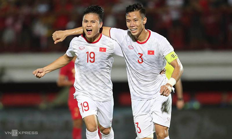 Tuyển Việt Nam đang đứng đầu bảng G với thành tích bất bại sau 5 trận, giành 11 điểm.