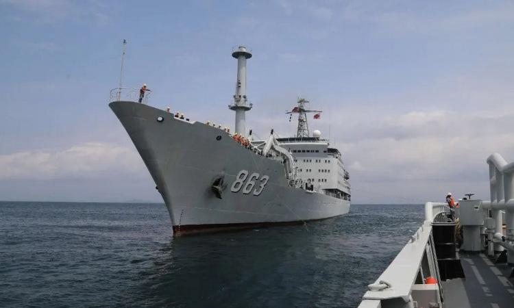 Tàu cứu hộ Yongxingdao trong một chuyến ra biển. Ảnh: Naval News.