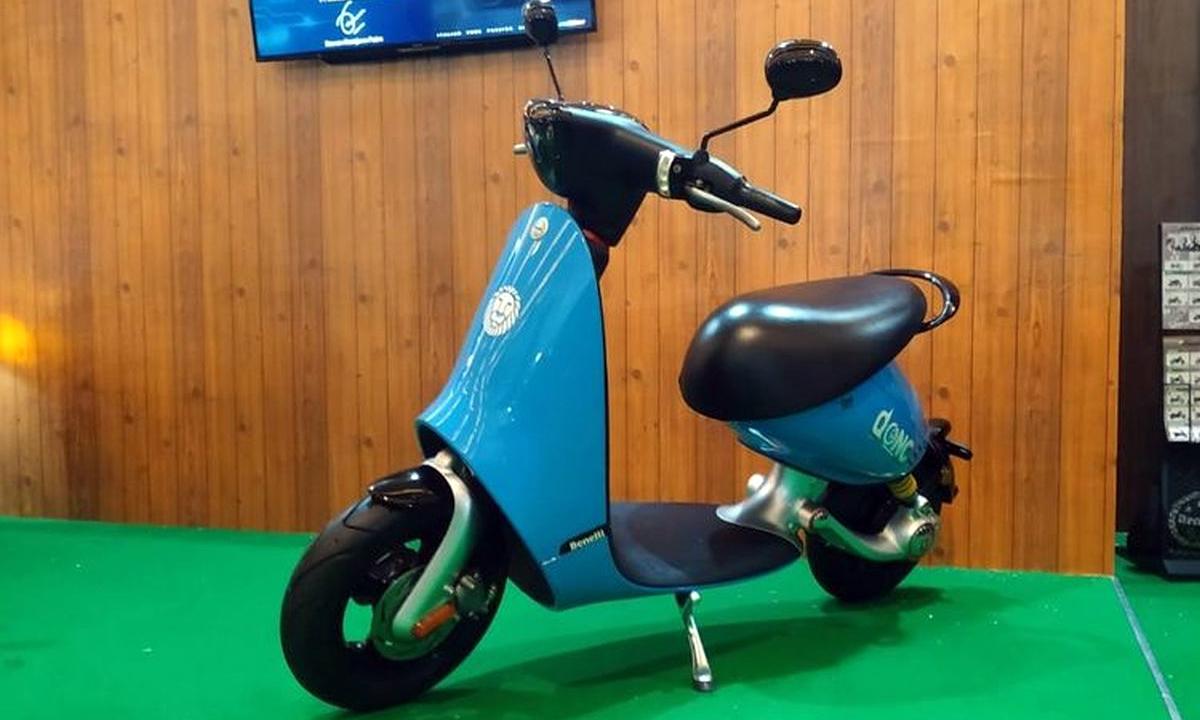 Xe máy điện dáng lạ Benelli Dong. Ảnh: Paultan