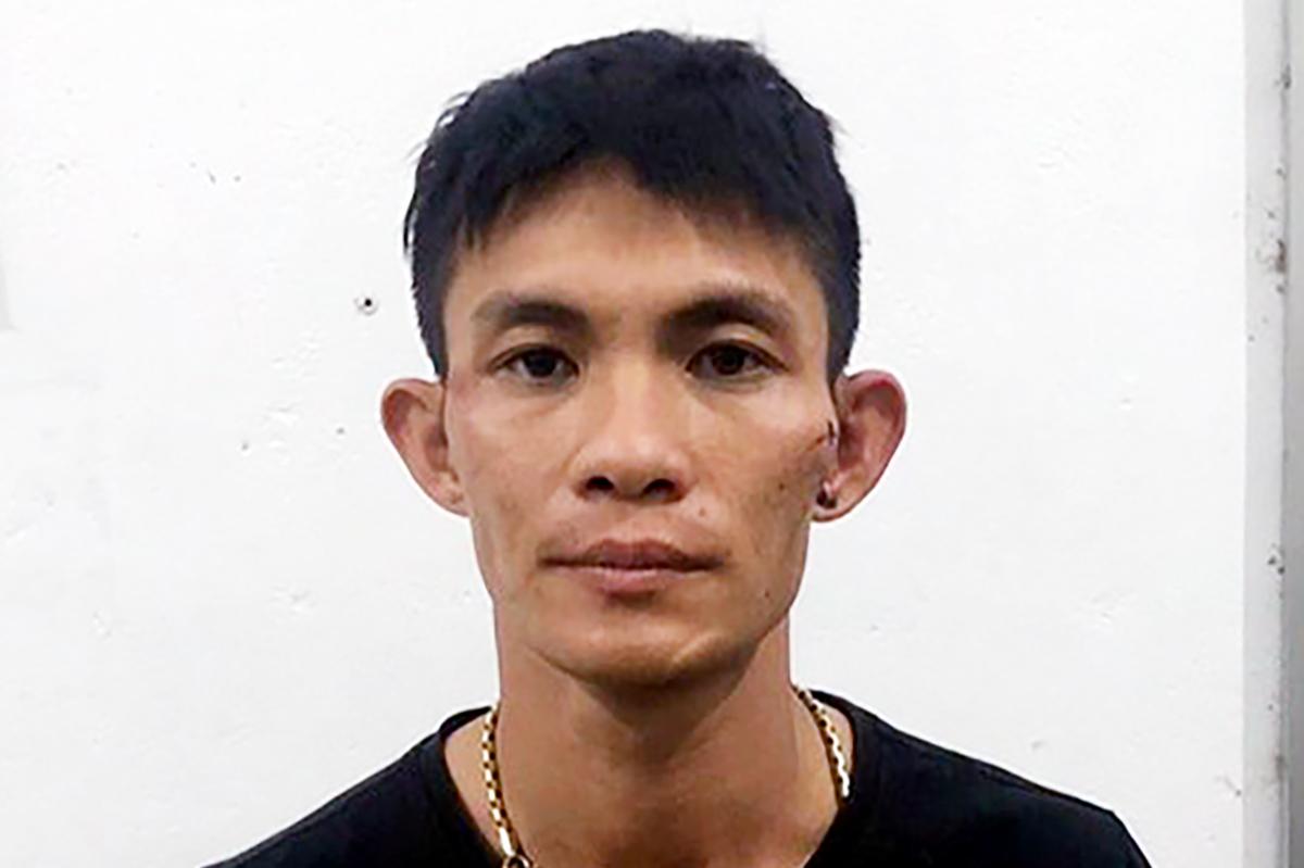 Nguyễn Thành Đài tại cơ quan điều tra. Ảnh: Công an cung cấp.