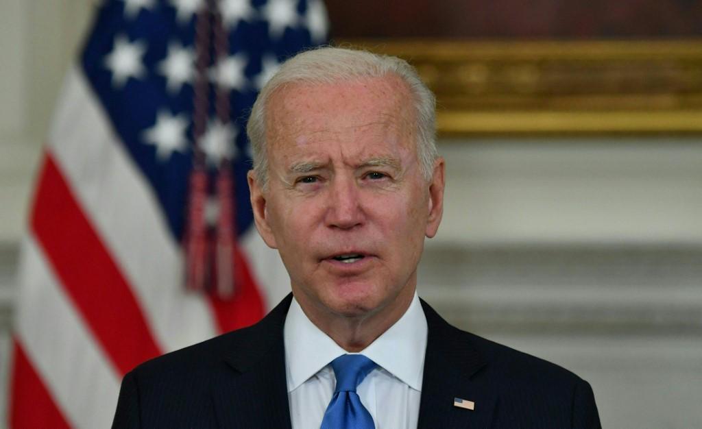 Tổng thống Mỹ Joe Biden phát biểu về Kế hoạch Giải cứu Người Mỹ tại Nhà Trắng hôm 5/5. Ảnh: AFP
