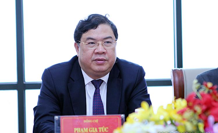Ông Phạm Gia Túc, tân Bí thư Tỉnh ủy Nam Định. Ảnh: Noichinh.vn