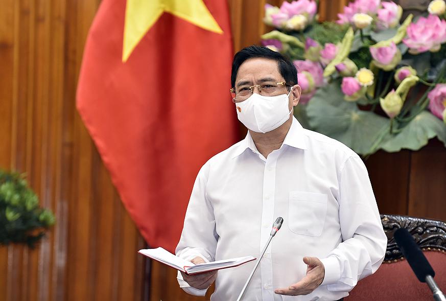 Thủ tướng Phạm Minh Chính phát biểu trong buổi làm việc với Bộ Giáo dục và Đào tạo ngày 6/5. Ảnh: VGP/Nhật Bắc.