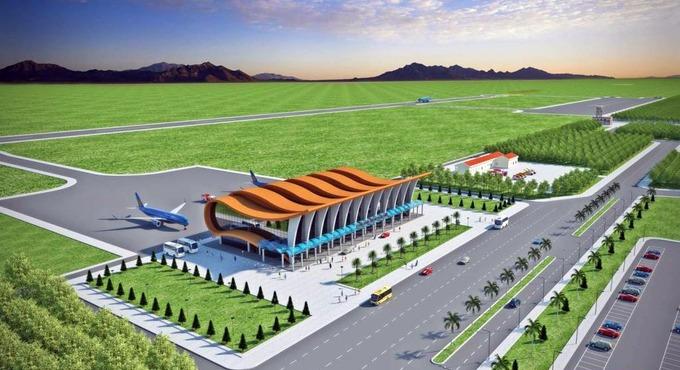 Phối cảnh sân bay Phan Thiết lúc được chọn năm 2014. Nguồn:UBND tỉnh Bình Thuận.