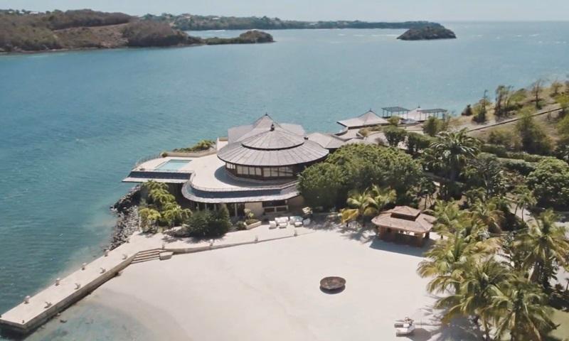 Đảo Calivigny thuộc quốc đảo Grenada, Caribbean. Ảnh: YouTube.