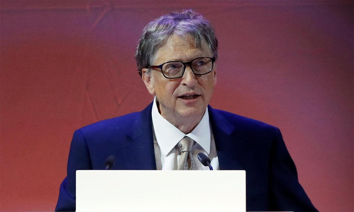 Bill Gates phát biểu trong hội nghị thượng đỉnh y tế thế giới tại Berlin, Đức, tháng 10/2018. Ảnh: Reuters.