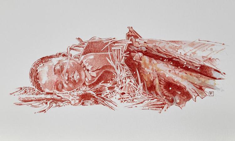 Tư thế của em bé trong ngôi mộ 78.300 năm tuổi. Ảnh: Fernando Fueyo.