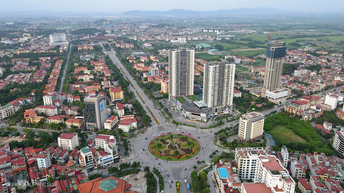 Khu vực trung tâm đô thị, hành chính ở tỉnh Bắc Ninh. Ảnh: Bá Đô