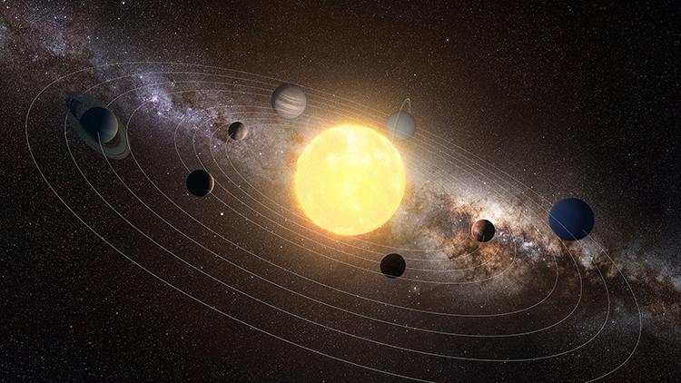 Mô phỏng hệ Mặt Trời. Ảnh: CFP.