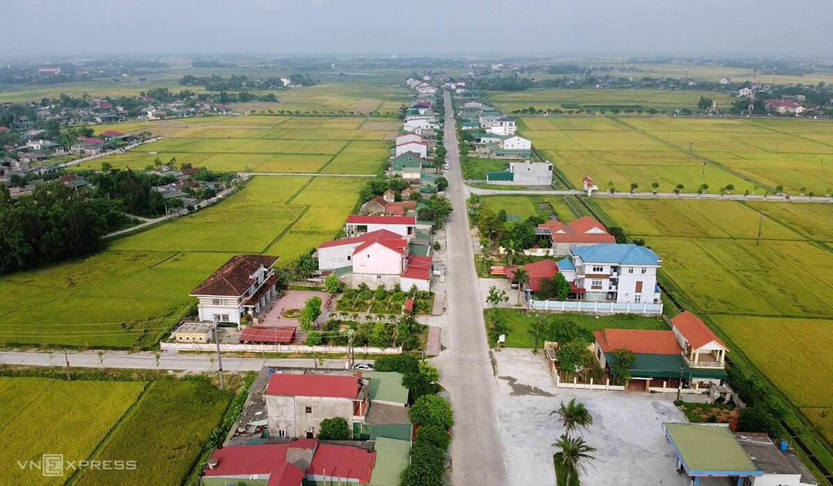hôn Sâm Lộc, xã Tượng Sơn, huyện Thạch Hà, nơi nữ bệnh nhân lưu trú tại nhà chị gái từ ngày 29/4 đến 5/5. Ảnh: Đức Hùng